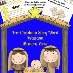 Free Nativity Word Wall and Memory Verse