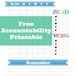Free Accountability Sheet for Homeschool Kids