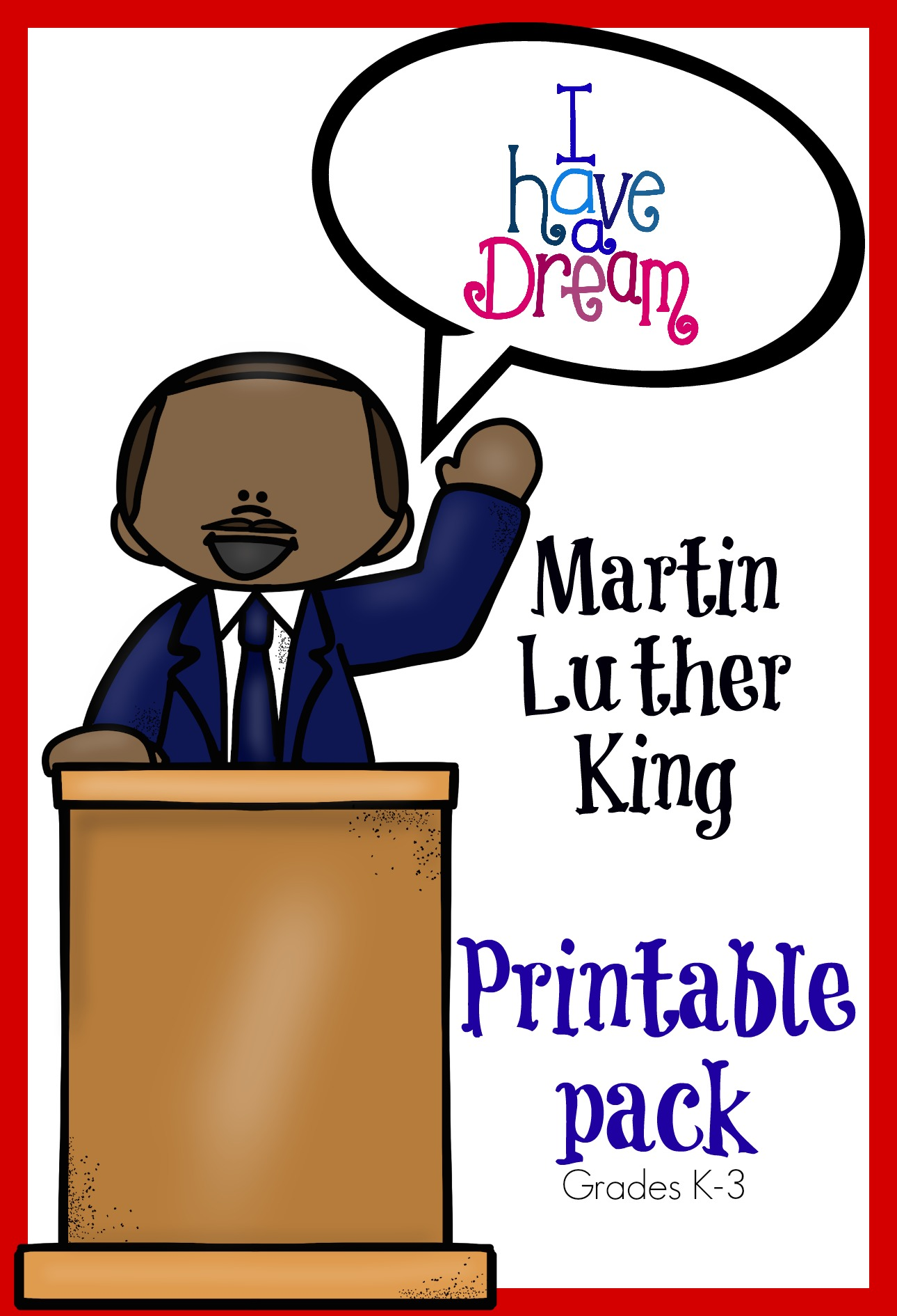 Home Elementary Circle Time Martin Luther King Jr. Memory Pack