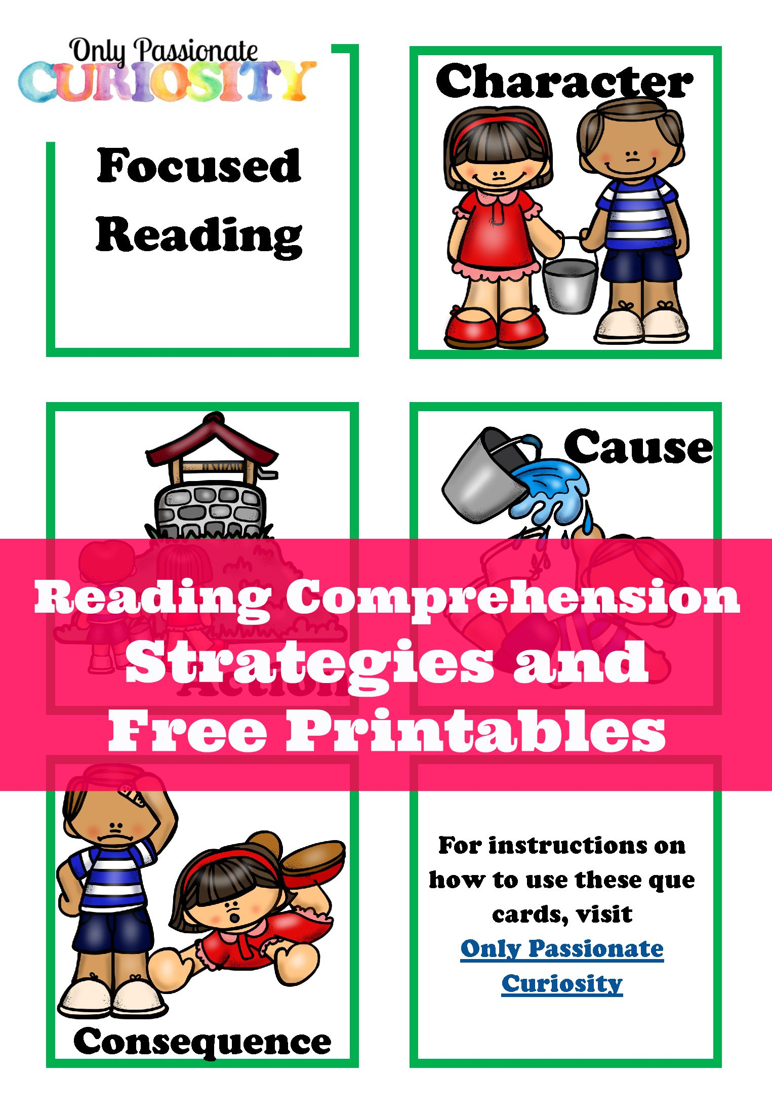 reading comprehension cue cards only passionate curiosity reading comprehension cue cards