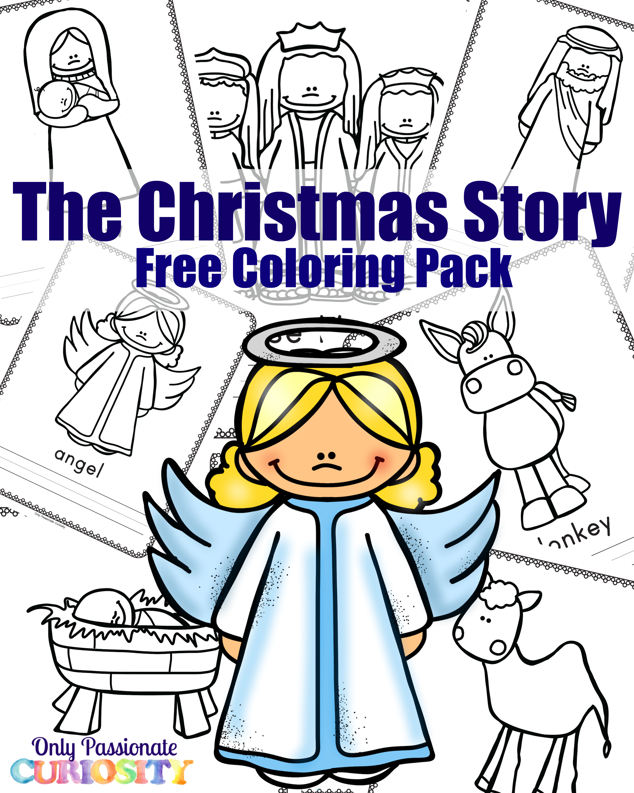 Christmas story coloring pack only passionate curiosity for A christmas story coloring pages