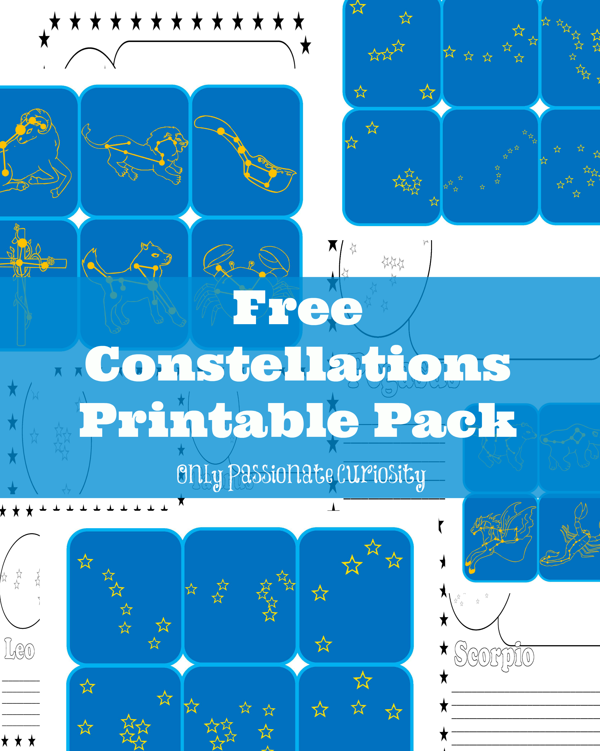 Constellations printable pack only passionate curiosity constellations printable pack publicscrutiny Image collections