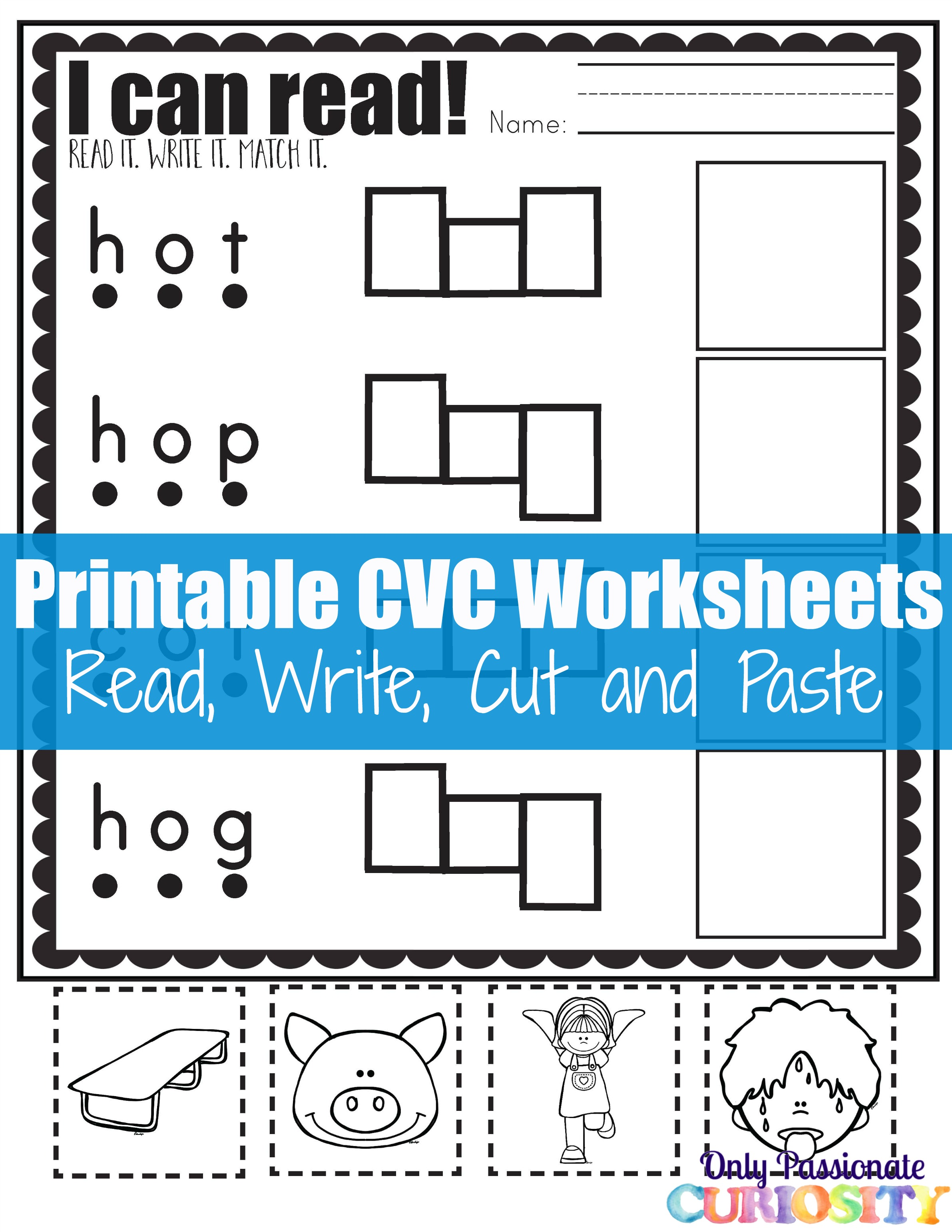 Worksheets Cvc Worksheets cvc worksheets cut and paste letter o only passionate curiosity worksheets