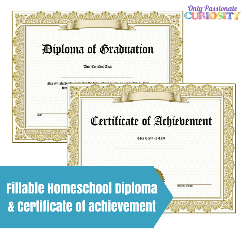 photo about Printable Home School Diploma known as Homeschool Degree Certification of Good results - Basically