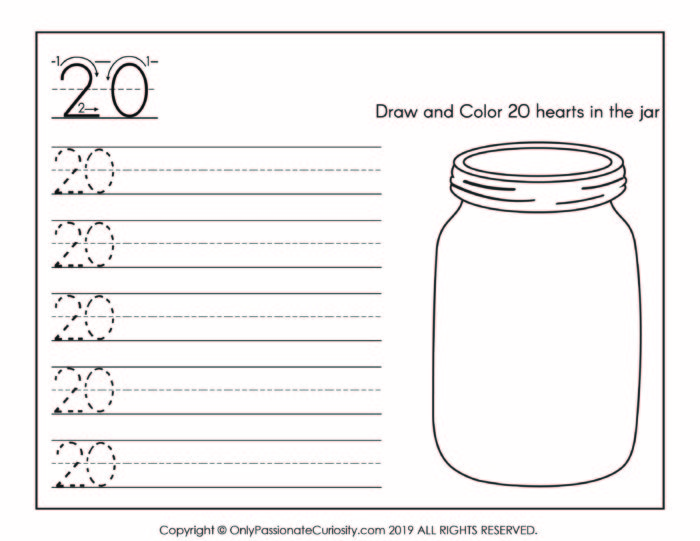 number practice for number 20