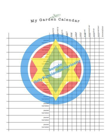 sample page of garden planner