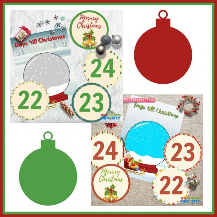Christmas snow globe printables